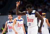 Real Madrid's player Othello Hunter during match of Liga Endesa at Barclaycard Center in Madrid. September 30, Spain. 2016. (ALTERPHOTOS/BorjaB.Hojas) /NORTEPHOTO.COM