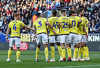 Blackburn Rovers'  Charlie Mulgrew (right) organises the wall at a free kick<br /> <br /> Photographer Andrew Kearns/CameraSport<br /> <br /> The EFL Sky Bet Championship - Bolton Wanderers v Blackburn Rovers - Saturday 6th October 2018 - University of Bolton Stadium - Bolton<br /> <br /> World Copyright &copy; 2018 CameraSport. All rights reserved. 43 Linden Ave. Countesthorpe. Leicester. England. LE8 5PG - Tel: +44 (0) 116 277 4147 - admin@camerasport.com - www.camerasport.com