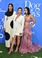 CENTURY CITY, CA - AUGUST 05: (L-R) Nina Dobrev, Eva Longoria and Vanessa Hudgens attend the premiere of LD Entertainment's 'Dog Days' at Westfield Century City on August 5, 2018 in Century City, California.<br /> CAP/ROT<br /> &copy;ROT/Capital Pictures