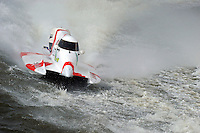Greg Foster (#14) runs through the white water.    (Formula 1/F1/Champ class)
