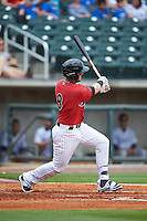 Birmingham Barons third baseman Trey Michalczewski (8) at bat during a game against the Pensacola Blue Wahoos on May 2, 2016 at Regions Field in Birmingham, Alabama.  Pensacola defeated Birmingham 6-3.  (Mike Janes/Four Seam Images)