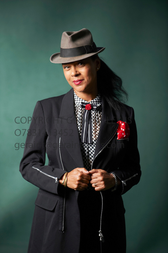 Pauline Black, at The Edinburgh International Book Festival 2011.  The iconic lead singer for platinum-selling 2-tone band The Selecter, Black was the highest profile woman in a movement dominated by blokes. As the undisputed Queen of British Ska, she witnessed the good, the bad and the ugly. Born in 1953 of Anglo-Jewish/Nigerian parentage, she was adopted by a white, working class Essex family but was always made to feel an outsider. Black by Design follows her rise to fame and recollections of the 2-tone phenomenon allied to the search for her real parents. Credit Geraint Lewis