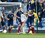 Shaun Maloney leads the Scotland celebrations