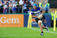 Zach Mercer of Bath Rugby in possession. Aviva Premiership match, between Bath Rugby and Newcastle Falcons on September 10, 2016 at the Recreation Ground in Bath, England. Photo by: Patrick Khachfe / Onside Images