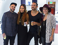 Josh Dabdee, Emi Kitawaki, Maurice Salmin and Ashlei Lien attend the WILLIAM Sample Sale at Brigade LA on October 25, 2014