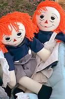 Raggedy Ann dolls for sale at flea market.  Battle Lake  Minnesota USA