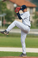 21 May 2009: Quentin Becquey of Rouen pitches against Clermont-Ferrand during the 2009 challenge de France, a tournament with the best French baseball teams - all eight elite league clubs - to determine a spot in the European Cup next year, at Montpellier, France.