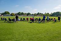 Fans during  the National Primary School Cup Final between Southland Boys High School v Tauranga Intermediate at the Bert Sutcliffe Oval, Lincoln University, Christchurch, New Zealand. Wednesday 22 November 2017. Photo: John Davidson/www.bwmedia.co.nz