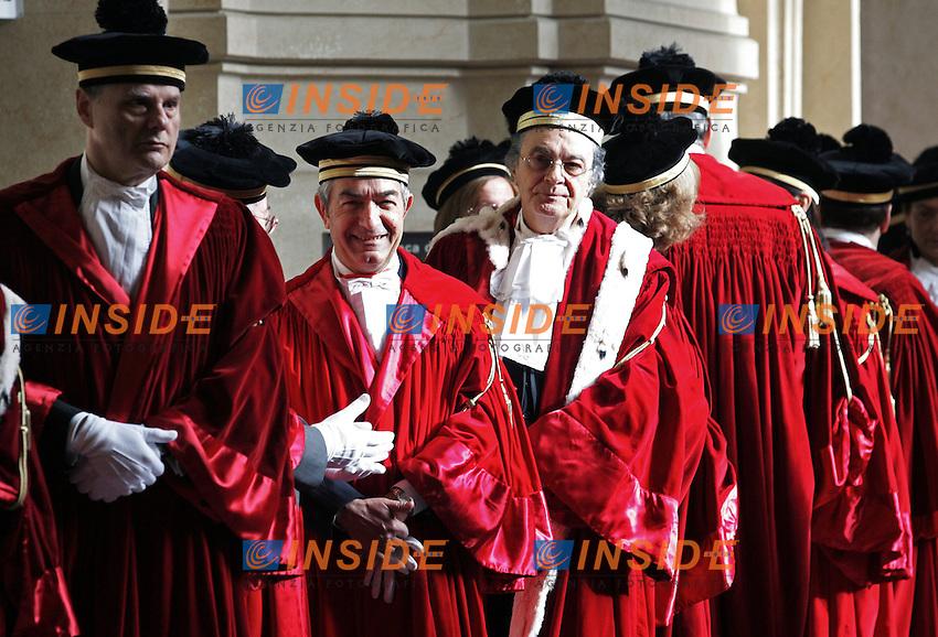 Toghe Rosse - I giudici attendono l'inizio della cerimonia...Corte di Cassazione - Inaugurazione dell'Anno Giudiziario 2011...Roma, 28 Gennaio 2011..Serena Cremaschi Insidefoto..........