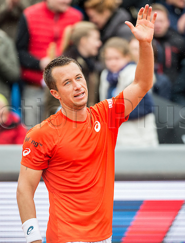 01.05.2016. Munich, Germany. BMW Open 2016 MTTC Iphit Munich singles final. Winner Philipp Kohlschreiber (GER). Kohlschreiber beat Dominic Thiem (aut) in 3 sets.