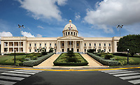 Palacio Nacional, or National Palace, a neoclassical building designed by Guido D'Alessandro and built 1944-47, housing the offices of the Executive Branch (Presidency and Vice Presidency) of the Dominican Republic, in Santo Domingo, Dominican Republic, in the Caribbean. Picture by Manuel Cohen