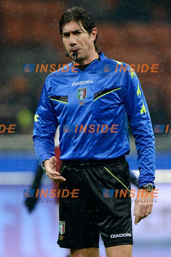 Mauro Bergonzi arbitro, Referee<br /> Milano 19-01-2014 Stadio Giuseppe Meazza - Football 2013/2014 Serie A. Milan - Hellas Verona Foto Giuseppe Celeste / Insidefoto