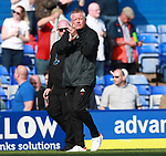 Chris Wilder manager of Sheffield Utd applauds the fans during the championship match at St Andrews Stadium, Birmingham. Picture date 21st April 2018. Picture credit should read: Simon Bellis/Sportimage