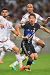 (L-R) Mohanad Salem, Ismail Ahmed (UAE), Takuma Asano (JPN),<br /> SEPTEMBER 1, 2016 - Football / Soccer :<br /> FIFA World Cup Russia 2018 Asian Qualifiers Final Round Group B match between Japan 1-2 United Arab Emirates at Saitama Stadium 2002 in Saitama, Japan. (Photo by AFLO)