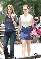 July 31,  2012 Marnie Michaels, Shoshanna Shapiro, Adam Sackler visit on location for HBO series Girls at Washington Square Park in New York City.Credit:© RW/MediaPunch Inc. /NortePhoto.com<br /> <br /> **SOLO*VENTA*EN*MEXICO**<br /> **CREDITO*OBLIGATORIO** <br /> *No*Venta*A*Terceros*<br /> *No*Sale*So*third*<br /> *** No Se Permite Hacer Archivo**<br /> *No*Sale*So*third*