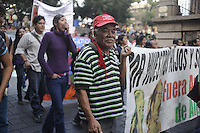 Messico,Morelos, Cuernavaca.29 Novembre 2010.Tappa della carovana di Via Campesina partita da Acapulco per partecipare al forum alternativo per la Vita e la giustizia ambientale e sociale.Mexico, Cuernavaca.Convoy of Via Campesina to COP 16, Cancun