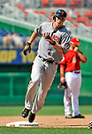 8 June 2008: San Francisco Giants' first baseman John Bowker rounds third after hitting a two-run homer to right in the sixth inning against the Washington Nationals at Nationals Park in Washington, DC. The Giants rallied to defeat the Nationals 6-3 in their third consecutive win of the 4-game series...Mandatory Photo Credit: Ed Wolfstein Photo