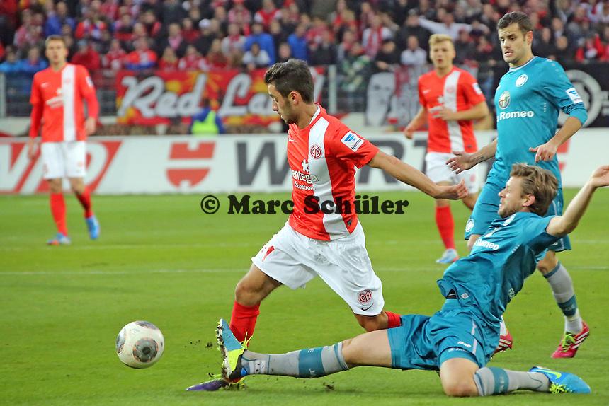 Marco Russ (Eintracht) gegen Yunus Malli (mainz) - 1. FSV Mainz 05 vs. Eintracht Frankfurt, Coface Arena, 12. Spieltag