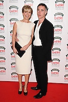 Emma Thompson and husband, Greg Wise<br /> arives for the Empire Magazine Film Awards 2014 at the Grosvenor House Hotel, London. 30/03/2014 Picture by: Steve Vas / Featureflash