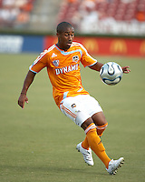 Houston Dynamo midfielder Corey Ashe (26).   Houston Dynamo beat FC Dallas 2-1 at Robertson Stadium in Houston, TX on June 3, 2007.