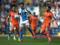 Blackburn Rovers Stewart Downing in action with Cardiff City's Lee Tomlin<br /> <br /> Photographer Mick Walker/CameraSport<br /> <br /> The Premier League - Blackburn Rovers v Cardiff City - Saturday August 24th 2019 - Ewood Park - Blackburn<br /> <br /> World Copyright © 2019 CameraSport. All rights reserved. 43 Linden Ave. Countesthorpe. Leicester. England. LE8 5PG - Tel: +44 (0) 116 277 4147 - admin@camerasport.com - www.camerasport.com