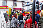 A car crashed in to the EBS building society  at Bridge Street Tralee on Wednesday afternoon.