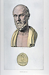 portrait of Hippocrates, Father of Medicine