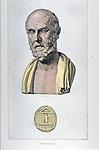 portrait of Hippocrates, Father of Medicine