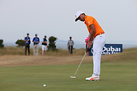 Rickie Fowler (USA) during the Final Round of the ASI Scottish Open 2018, at Gullane, East Lothian, Scotland.  15/07/2018. Picture: David Lloyd | Golffile.<br /> <br /> Images must display mandatory copyright credit - (Copyright: David Lloyd | Golffile).