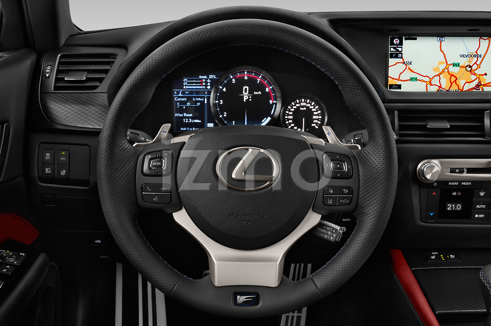 Car pictures of steering wheel view of a 2017 Lexus GS F 4 Door Sedan
