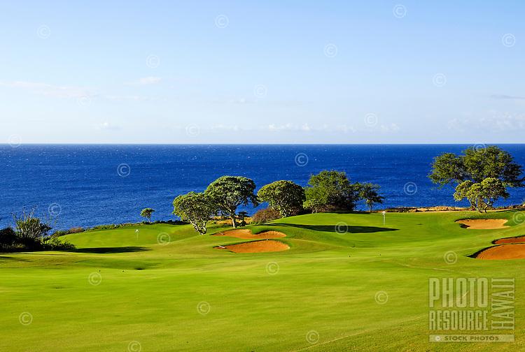 Holes 11 & 12, The Challenge golf course at Manele, Lanai, Jack Nicklaus design