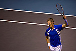 BANGKOK, THAILAND - OCTOBER 02:  Jarkko Nieminen of Finland celebrates a point against Benjamin Becker of Germany during the Day 8 of the PTT Thailand Open at Impact Arena on October 2, 2010 in Bangkok, Thailand.  Photo by Victor Fraile / The Power of Sport Images