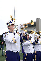 SEATTLE, WA - NOVEMBER 12:  Washington band members entertained fans before the game. Washington defeated USC at the University of Washington in Seattle, WA.