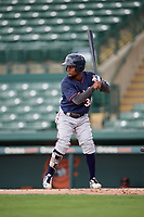 GCL Twins left fielder Samuel Vasquez (37) at bat during the first game of a doubleheader against the GCL Orioles on August 1, 2018 at CenturyLink Sports Complex Fields in Fort Myers, Florida.  GCL Twins defeated GCL Orioles 7-6 in the completion of a suspended game originally started on July 31st, 2018.  (Mike Janes/Four Seam Images)