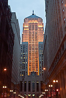 -Chicago's Board of Trade Building at Twilight