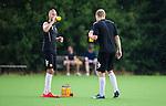 Stockholm 2014-07-27 Fotboll Superettan Hammarby IF - Tr&auml;ning :  <br /> Hammarbys Daniel Theorin dricker vatten tillsammans med Lars S&auml;tra Saetra under Hammarbys tr&auml;ning p&aring; &Aring;rsta IP s&ouml;ndag den 27 juli 2014<br /> (Foto: Kenta J&ouml;nsson) Nyckelord:  Superettan &Aring;rsta IP Hammarby HIF Bajen Tr&auml;ning Tr&auml;na Tr&auml;nar