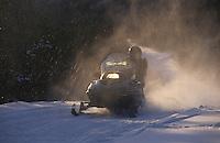 Amérique/Amérique du Nord/Canada/Quebec/Charlevoix : Raid en moto-neige dans le parc régional des Hautes-Gorges