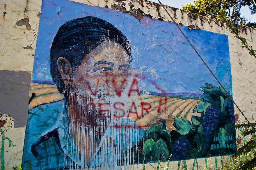 Cesar chavez mural in south austin for Cesar chavez mural