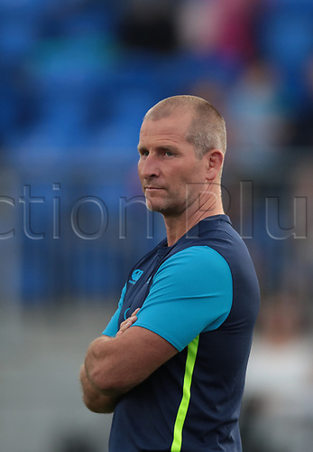 25th August 2017, Donnybrook Stadium, Dublin, Ireland; Pre Season Rugby Friendly; Leinster Rugby versus Bath Rugby; Leinster senior coach Stuart Lancaster