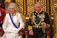 18 May 2016 - London England - Prince Charles Prince of Wales and Camilla Duchess of Cornwall during the State Opening of Parliament in the House of Lords in London. The State Opening of Parliament marks the formal start of the parliamentary year and the Queen's Speech sets out the government's agenda for the coming session. Photo Credit: ALPR/AdMedia