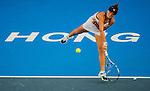 Kurumi Nara of Japan vs Ling Zhang of Hong Kong during the WTA Prudential Hong Kong Tennis Open at the Victoria Pack Stadium on 13 October 2015 in Hong Kong, China. Photo by Aitor Alcalde / Power Sport Images