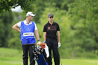 Ivan Cantero Gutierrez (ESP) waits to play his 2nd shot on the 15th hole during Sunday's Final Round of the Northern Ireland Open 2018 presented by Modest Golf held at Galgorm Castle Golf Club, Ballymena, Northern Ireland. 19th August 2018.<br /> Picture: Eoin Clarke | Golffile<br /> <br /> <br /> All photos usage must carry mandatory copyright credit (&copy; Golffile | Eoin Clarke)