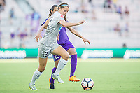 Orlando, FL - Sunday May 14, 2017: Ashley Hatch during a regular season National Women's Soccer League (NWSL) match between the Orlando Pride and the North Carolina Courage at Orlando City Stadium.