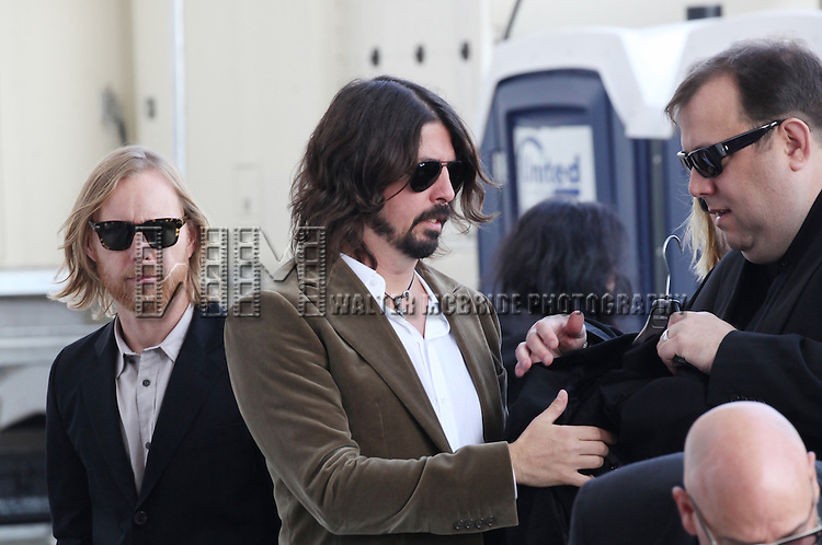 Nate Mendel & Dave Grohl (Foo Fighters) attending the Rehearsals for the 35th Kennedy Center Honors at Kennedy Center in Washington, D.C. on December 2, 2012