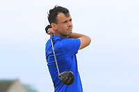 Paul Coughlan (Castleknock) on the 17th tee during Round 2 of the North of Ireland Amateur Open Championship 2019 at Portstewart Golf Club, Portstewart, Co. Antrim on Tuesday 9th July 2019.<br /> Picture:  Thos Caffrey / Golffile<br /> <br /> All photos usage must carry mandatory copyright credit (© Golffile | Thos Caffrey)