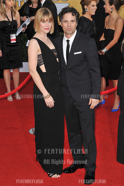Mark Ruffallo & wife Sunshine at the 17th Annual Screen Actors Guild Awards at the Shrine Auditorium..January 30, 2011  Los Angeles, CA.Picture: Paul Smith / Featureflash