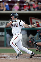 Cody Decker of the Lake Elsinore Storm during game against the Bakersfield Blaze at The Diamond in Lake Elsinore,California on July 25, 2010. Photo by Larry Goren/Four Seam Images