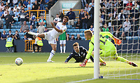 Leeds United's Tyler Roberts goes close in the second half<br /> <br /> Photographer Rob Newell/CameraSport<br /> <br /> The EFL Sky Bet Championship - Millwall v Leeds United - Saturday 15th September 2018 - The Den - London<br /> <br /> World Copyright &copy; 2018 CameraSport. All rights reserved. 43 Linden Ave. Countesthorpe. Leicester. England. LE8 5PG - Tel: +44 (0) 116 277 4147 - admin@camerasport.com - www.camerasport.com
