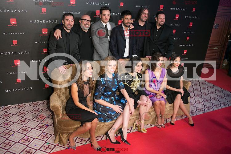 "Crew of the Movie attend the Premiere of the movie ""Musaranas"" in Madrid, Spain. December 17, 2014. (ALTERPHOTOS/Carlos Dafonte) /NortePhoto /NortePhoto.com"