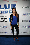 """Model Alejandra Cata Attends NEW YORK Rangers ROLL OUT THE """"BLUE CARPET PRESENTED by Chase"""" FOR GAME THREE AGAINST WASHINGTON at Madison Square Garden, NY"""